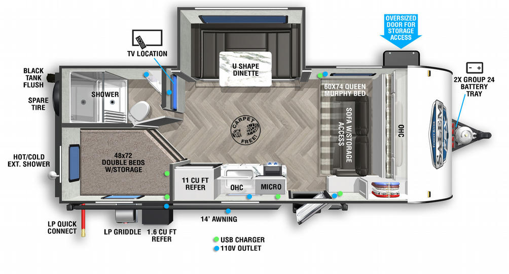 Salem FSX 178BHSK Floor Plan - 2021