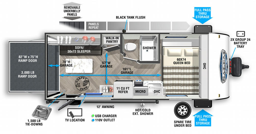 Salem FSX 181RTX Floor Plan - 2021