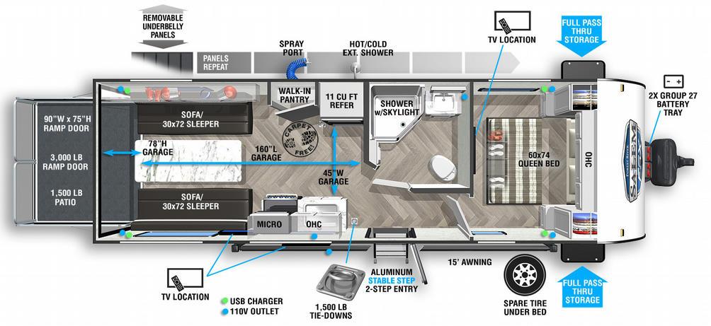 Salem FSX 210RTX Floor Plan - 2021