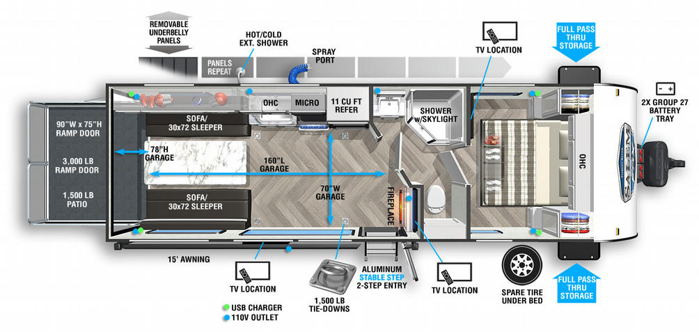 Salem FSX 260RT Floor Plan - 2021