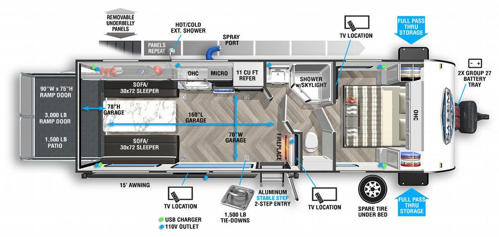 Salem FSX 260RTX Floor Plan - 2021