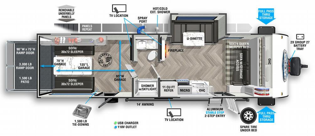 Salem FSX 280RT Floor Plan - 2021