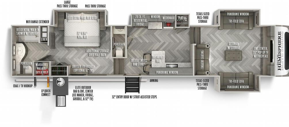 Salem Hemisphere Elite Series 36FL Floor Plan - 2021