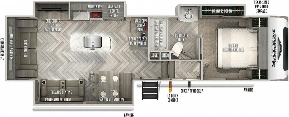 Salem Hemisphere 290RL Floor Plan - 2021