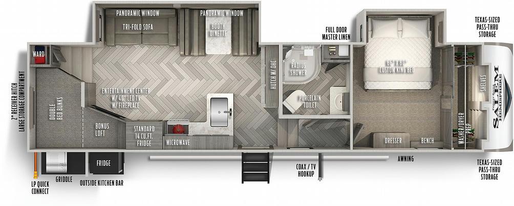 Salem Hemisphere 295BH Floor Plan - 2021