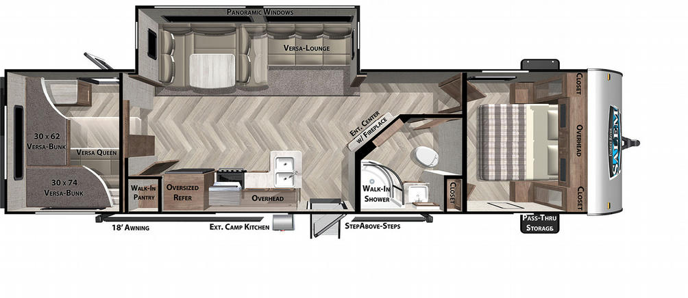 Salem 29VBUD Floor Plan - 2021