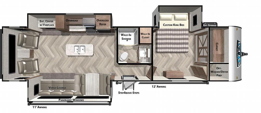Salem 32RET Floor Plan - 2021