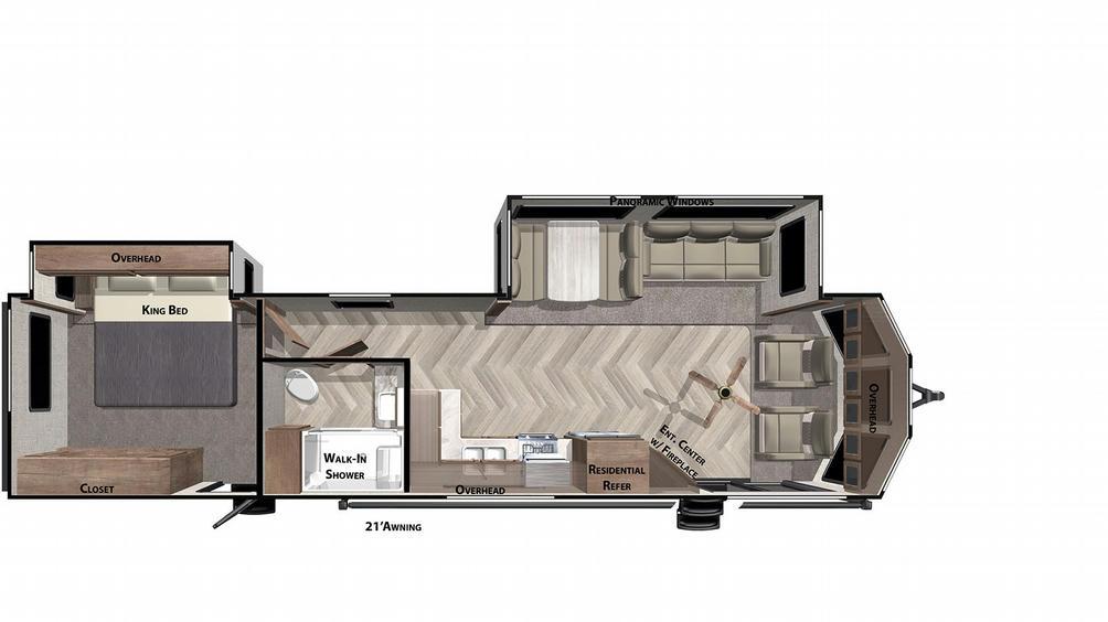 Salem Villa Classic 353FLFB Floor Plan - 2021