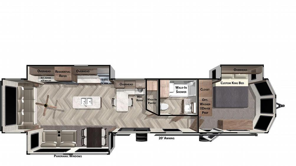 Salem Villa Classic 40RLB Floor Plan - 2021