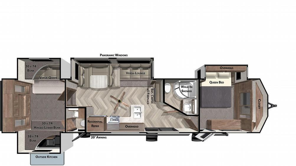 Salem Villa Classic 42QBQ Floor Plan - 2021