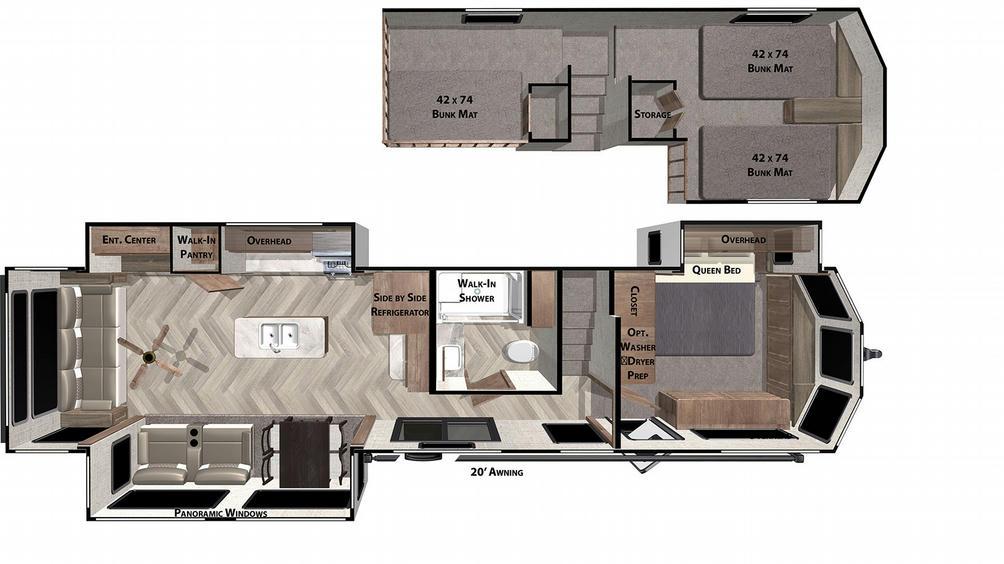 Salem Villa Grand 42DL Floor Plan - 2021