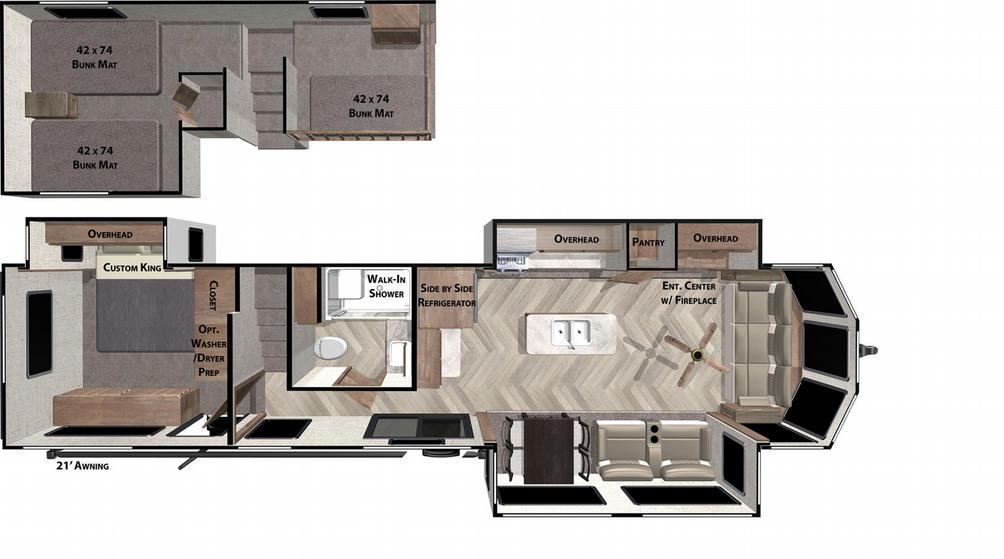 Salem Villa Grand 42FLDL Floor Plan - 2021