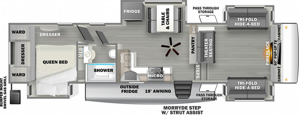 Sierra C Class 3770FL Floor Plan - 2021