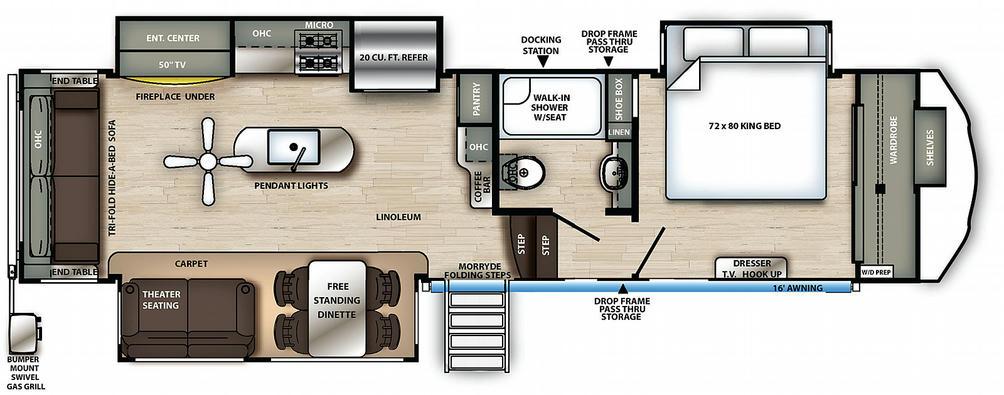Sierra 321RL Floor Plan - 2021