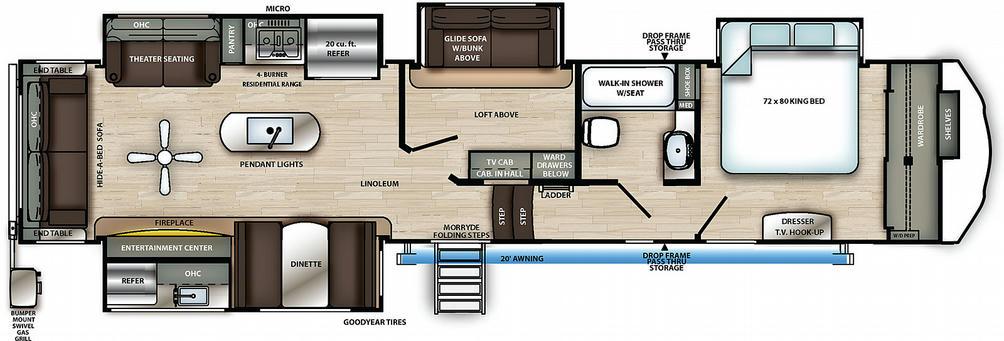 Sierra 372LOK Floor Plan - 2021