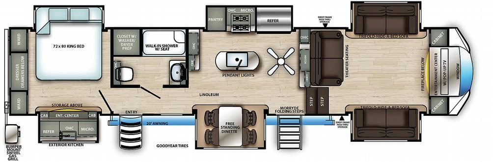 Sierra 379FLOK Floor Plan - 2021