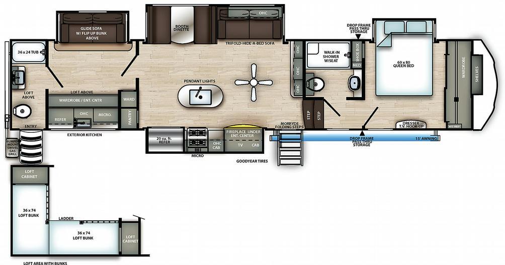 Sierra 383RBLOK Floor Plan - 2021