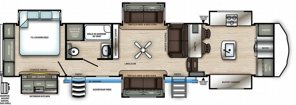 Sierra 38FKOK Floor Plan - 2021