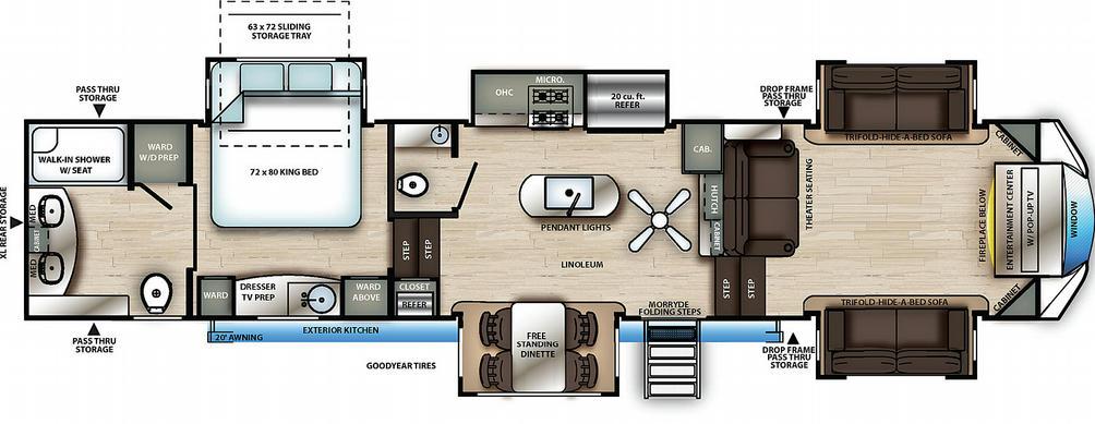 Sierra 391FLRB Floor Plan - 2021
