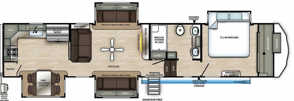 Sierra 39BARK Floor Plan - 2021