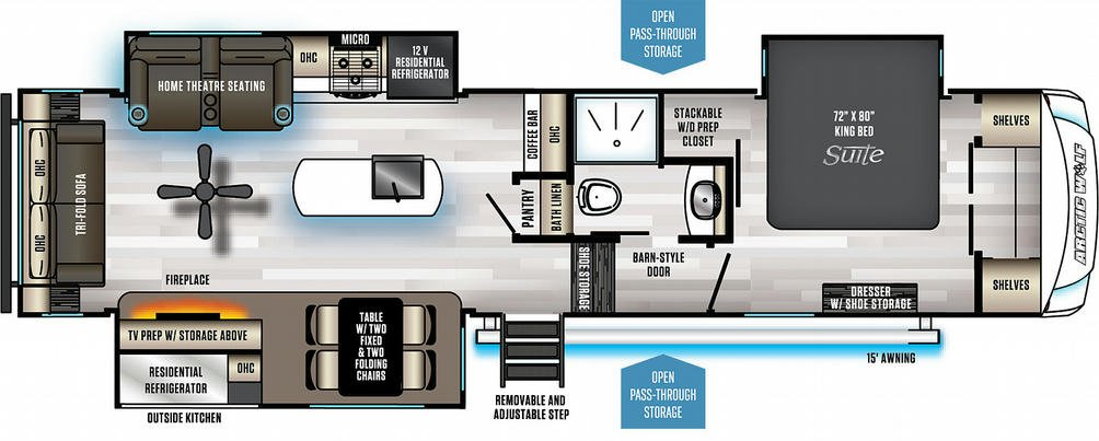 Arctic Wolf 3550Suite Floor Plan - 2021