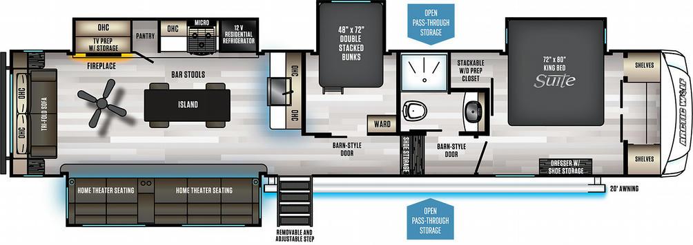 Arctic Wolf 3880SUITE Floor Plan - 2021