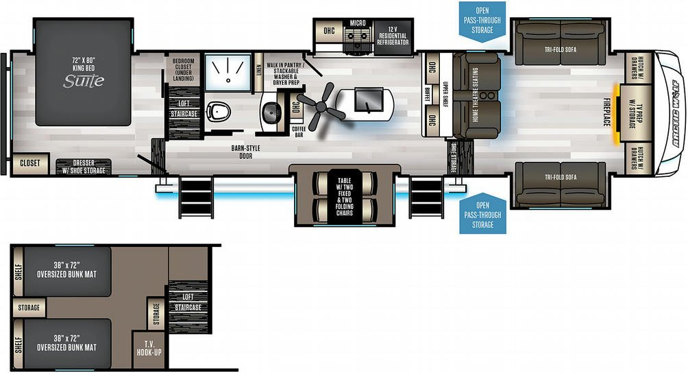 Arctic Wolf 3990Suite Floor Plan - 2021
