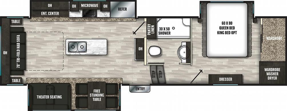 Brookstone 290RL Floor Plan - 2021
