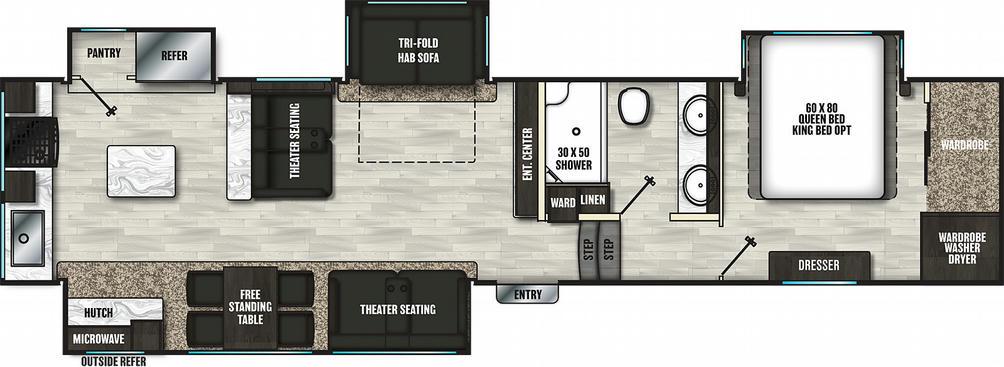 Brookstone 374RK Floor Plan - 2021