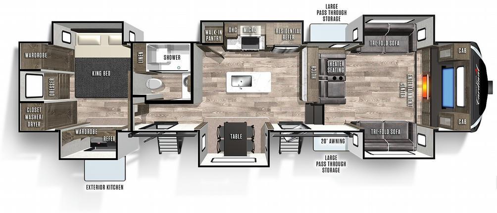 Cardinal Limited 379FLLE Floor Plan - 2021