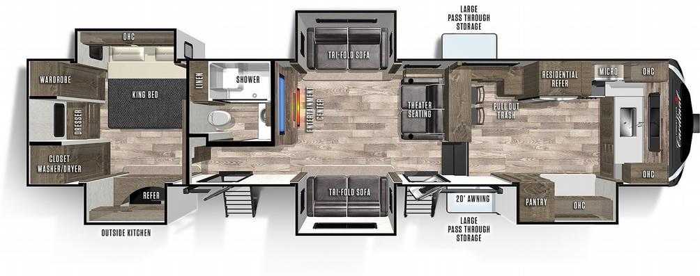 Cardinal Limited 403FKLE Floor Plan - 2021