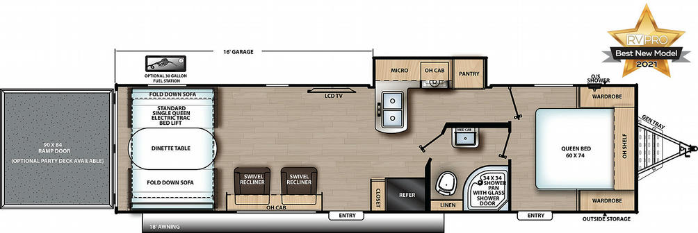 Catalina Trail Blazer 30THS Floor Plan - 2021