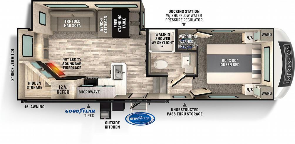 Impressions 240RE Floor Plan - 2022