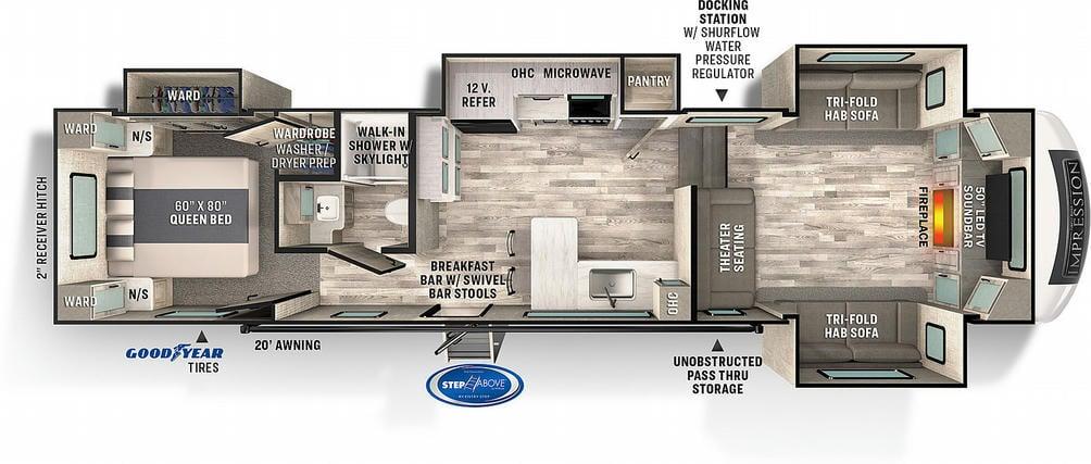 Impressions 320FL Floor Plan - 2022