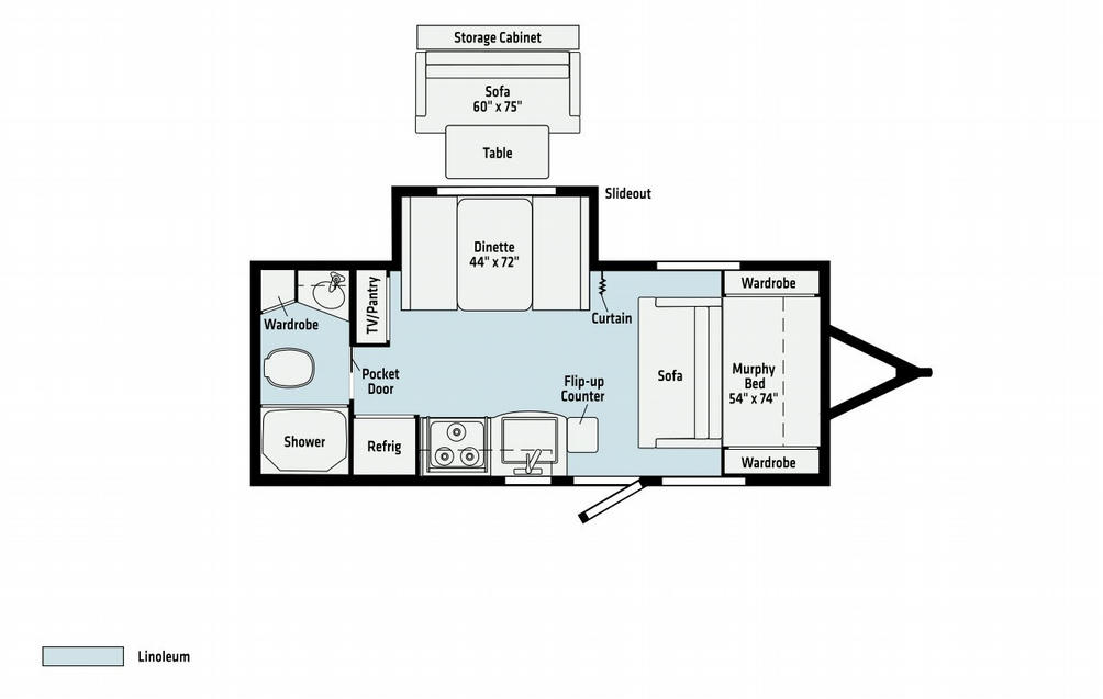 Micro Minnie 2108DS Floor Plan - 2021