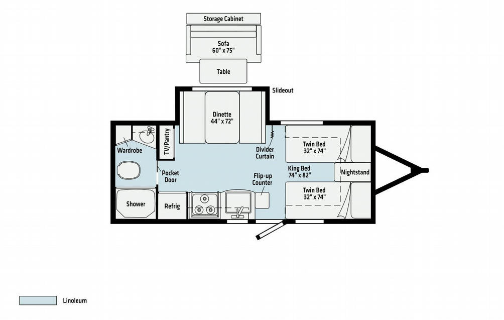 Micro Minnie 2108TB Floor Plan - 2021