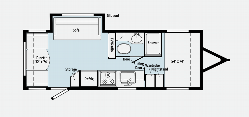 Micro Minnie 2225RL Floor Plan - 2021