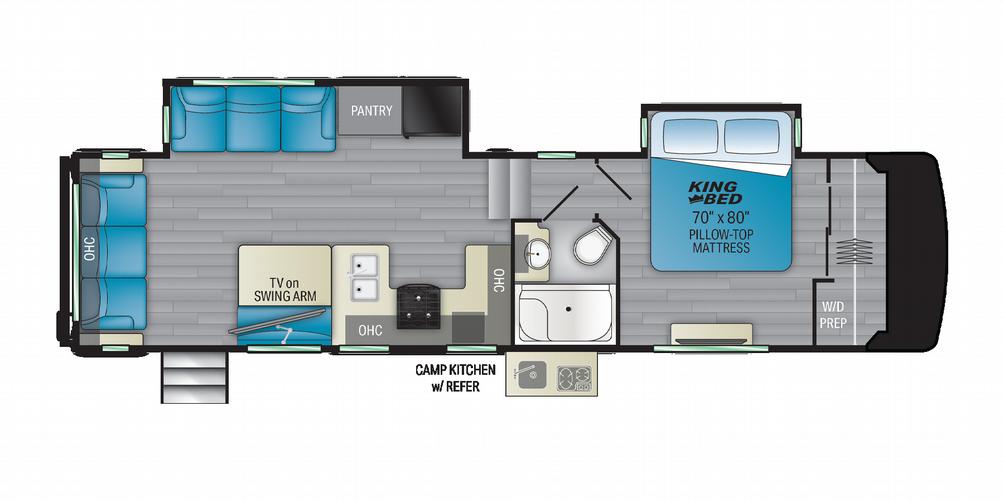 Milestone 317RL Floor Plan - 2021