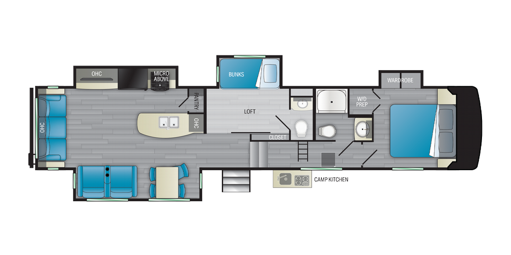 Milestone 377MB Floor Plan - 2021