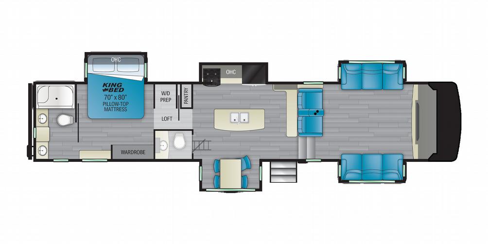 Milestone 379FLML Floor Plan - 2021