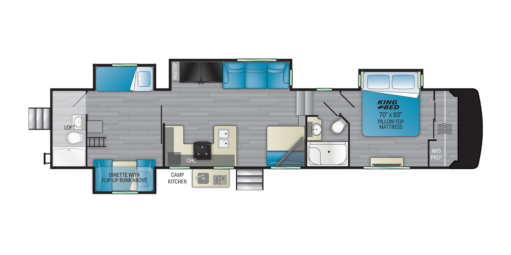 Milestone 386BH Floor Plan - 2021