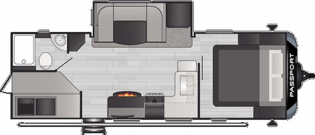 Passport GT Series 2401BH Floor Plan - 2021