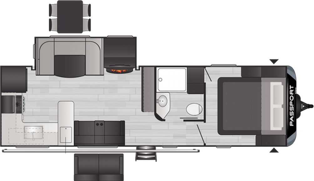 Passport GT Series 2704RK Floor Plan - 2021