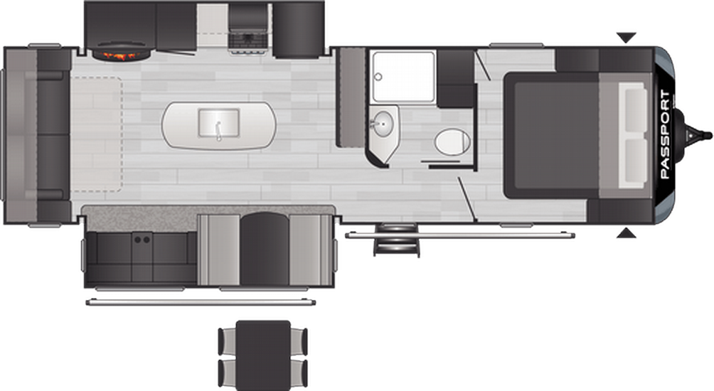 Passport GT Series 2870RL Floor Plan - 2021