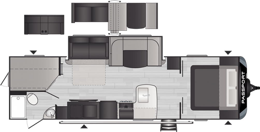 Passport GT Series 2951BH Floor Plan - 2021