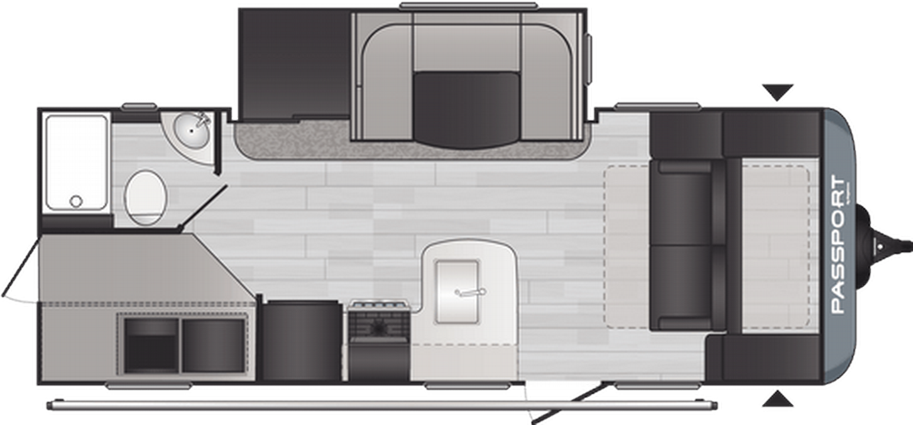 Passport SL Series 221BH Floor Plan - 2021