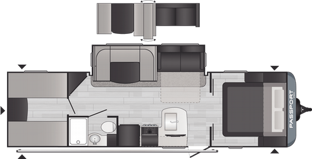 Passport SL Series 282QB Floor Plan - 2021