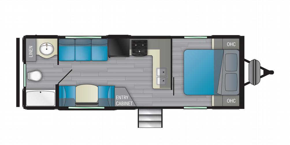 Prowler 240RB Floor Plan - 2021