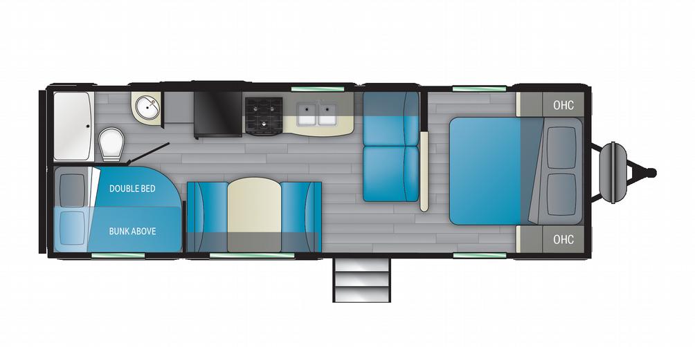 Prowler 250BH Floor Plan - 2021