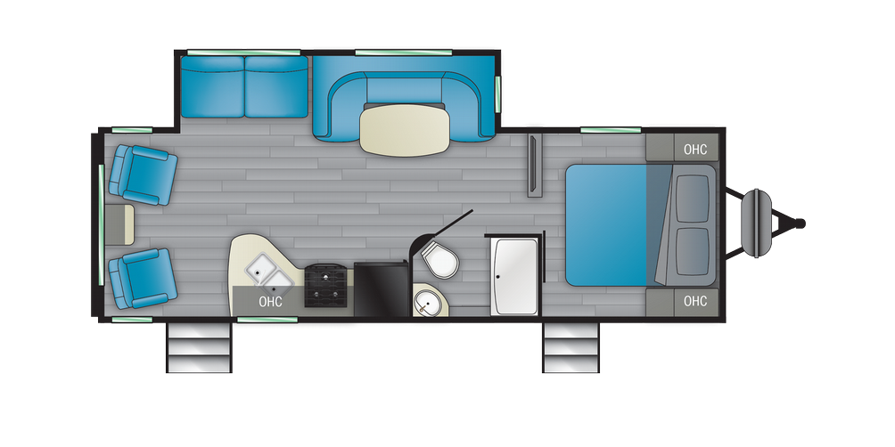 Prowler 256RL Floor Plan - 2021